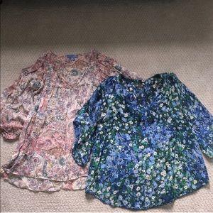 Anthropologie blouse bundle!